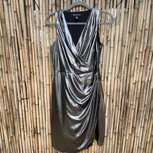 inc international concepts metallic drape dress 4